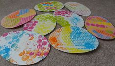 bubble wrap printed easter eggs or shamrocks or hearts or rainbows or the list goes on....MPM School Supplies Blog