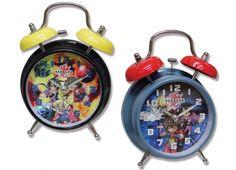 Orologio piccolo da tavolo con sveglia con suono meccanico, in due versioni con immagini di Bakugan VENDITA AL PEZZO 2 VARIANTI