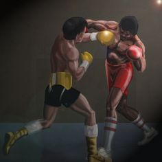 Rocky vs Apollo from the end of Rocky Photoshop painting, had a very grainy and blurry referance photo so I'm not too happy with the fac. Rocky and Apollo Rocky Balboa 3, Rocky Balboa Poster, Rocky Balboa Quotes, Rocky Poster, Rocky Series, Rocky Film, Rocky 3, Citations De Rocky Balboa, Caricatures