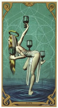 Night Sun Tarot - four of cups