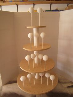 cake pop stand-need to make one of these for Cat's next party!!
