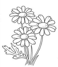 Simple Hand Embroidery Patterns, Flower Embroidery Designs, Flower Patterns, Easy Flower Drawings, Easy Drawings, Simple Flower Design, Easy Flower Designs, Anime Pixel Art, Sunflower Pattern