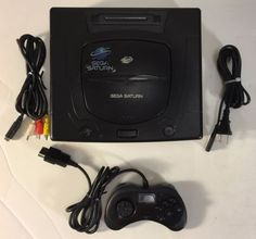 Sega Saturn Black Video Game System Console w/ New Battery - Tested and Working! - http://video-games.goshoppins.com/video-game-consoles/sega-saturn-black-video-game-system-console-w-new-battery-tested-and-working/