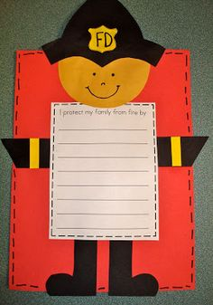 "Let kids own their fire prevention! ""I protect my family from fire by..."""