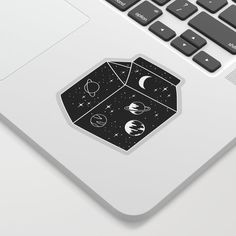 Milky way Sticker by anyuka Cute Laptop Stickers, Macbook Stickers, Cool Stickers, Tumblr Yellow, Milky Way, Sticker Design, Flask, Adhesive, Printer