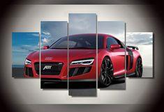 Audi Home Decor 5 Panel Canvas Art Poster Pictures, Canvas Pictures, Red Audi, Canvas Wall Art, Canvas Prints, Car Painting, Ferrari, Blueberry Juice, Poster Wall