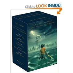 Percy Jackson and the Olympians series. Love it! Great for boys and an awesome way to get into mythology.
