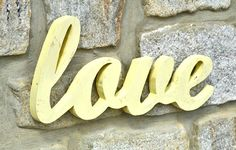 Wood Love Sign LOVE Sign in Script Design love by LifeUnscripted