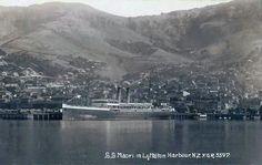 SS Maori in Lyttelton harbor Christchurch New Zealand, River, History, Kiwi, Ss, Outdoor, Image, Maori, Historia