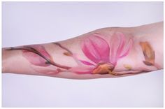 beautiful and delicate watercolor tattoos
