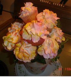 Begonia cupcakes