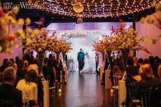 Cherry blossom aisle and chuppah, twinkling canopy of lights for a wedding! FANTASTICAL CHERRY BLOSSOM THEMED WEDDING www.elegantwedding.ca