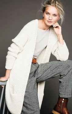 Spring and Autumn Flattering Outfits, Crochet Cardigan, Diy Crochet, Knitwear, Cashmere, Diys, Kimono, Street Style, Tejidos