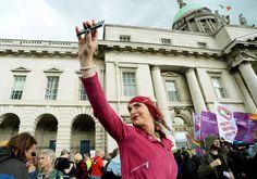 28 Jul Sonia Kolasinska, from Beacon Sandyford, taking part in the first Trans Pride March in Dublin. Transgender News, Customs House, Irish News, Busy City, Bustle, Dublin, Pride, To Go, March