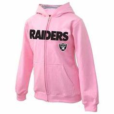 Oakland Raiders Toddler Pink Sportsman Zip Sweatshirt - Click to enlarge