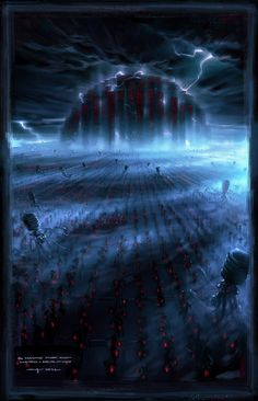 The Matrix Revolutions Concept Art by George Hull.