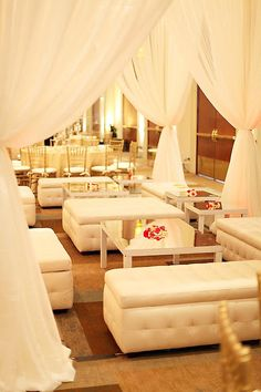 lounge area at wedding adds another space