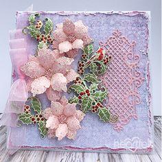 Heartfelt Creations - Sparkling Pink Poinsettias Project