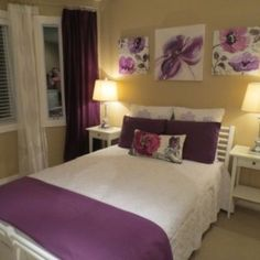 Purple Rooms Yellow Bedrooms Relaxation Room Relaxing Bedroom Apartment