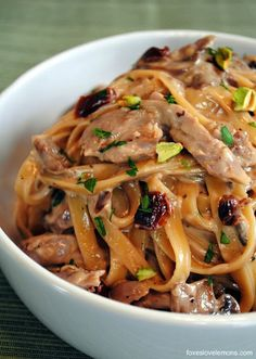 Tea-Smoked Duck Fettuccine - A decadent, restaurant-quality pasta made at home!