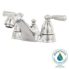 MOEN Banbury 4 in. Centerset 2-Handle Low-Arc Bathroom Faucet in Chrome-WS84912…