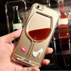 Flowing Liquid Water Wine Glass TPU Back Case Cover for iPhone 6s Plus, iPhone 6 6s 5 5s