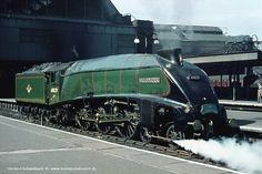 Pacific 60029 Woodcock in green livery survived until the end of from Steam Trains Uk, Old Steam Train, Diesel Locomotive, Steam Locomotive, Bournemouth, Carlisle, Southampton, Somerset, Ferrari Racing