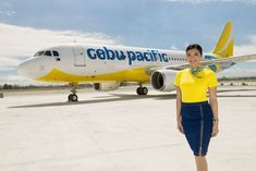 Cebu Pacific cabin crew uniform #aviationglamourstyle #aviationglamourairports Cebu Pacific Flight Attendant, Airline Uniforms, Cabin Crew, Military Art, Vintage Advertisements, New Look, Aviation, Aircraft, Pacific Airlines