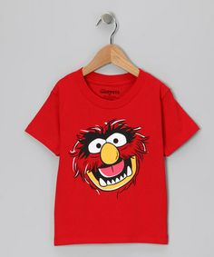 Take a look at this Red Muppet Animal Tee - Girls by The Muppets on #zulily today!