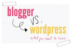 Blogger vs. Wordpress: Which is Better? | Wonder Forest: Style, Design, Life.