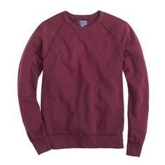 Crafted with classic athletic details, this medium-weight sweatshirt is specially washed for the look of the one you threw away and wish you hadn't. <ul><li>Cotton.</li><li>Rib trim at neck, cuffs and hem.</li><li>Machine wash.</li><li>Import.</li></ul>