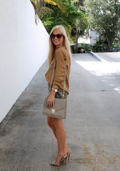 Fall Style in Miami tip- pile on the neutrals!