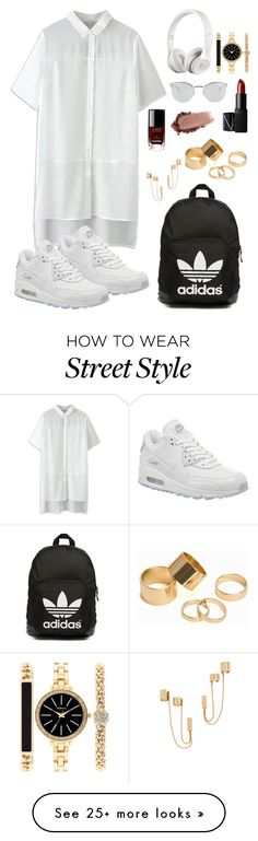 """""""Street life"""" by clueless-m on Polyvore featuring adidas Originals, Pieces, Chanel, NARS Cosmetics, Style & Co., Rachel Zoe, Fendi, Beats by Dr. Dre and NIKE"""