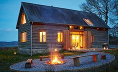 Holidays are on hold for now, but we can still enjoy making plans. We love Cruckbarn, a snug barn sleeping with oak beams, stunning views & outdoor fire pit in the beautiful Herefordshire countryside Luxury Holiday Cottages, Self Build Houses, Wooden Barn, Rural House, Barn Renovation, Cheap Houses, Herefordshire, Luxury Holidays, Types Of Houses