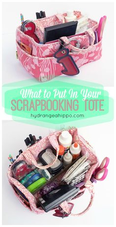 What to put in your scrapbooking tote and how to pack for a crop - tips, tricks, and essentials you need for your tool tote.