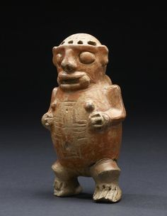 Human Effigy Ocarina, Pre-Columbian, AD 200-500, currently located at the Walters Art Museum, USA.