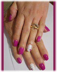 fucsia viola (tertio 073) bianco strisce cuore