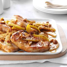 Cinnamon-Apple Pork Chops Recipe -When I found this recipe online years ago, it quickly became a favorite. The ingredients are easy to keep on hand, and the one-pan cleanup is a bonus. —Christina Price, Pittsburgh, Pennsylvania