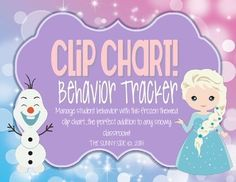 LET IT GO! Ice Princess Behavior Clip Chart..Frozen Inspired!