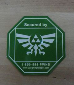 ADT Mock Security Magnets  35 Tall  Zelda Hylian by LaughingReaper. , via Etsy.