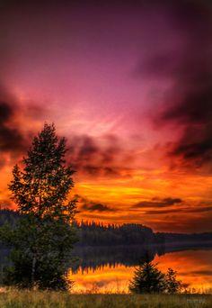 After sundown, Köhniönjärvi - Jyväskylä, Finland.