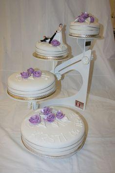 Sving-stativ, fire etasjer Tiered Cakes, Fire, Tripod