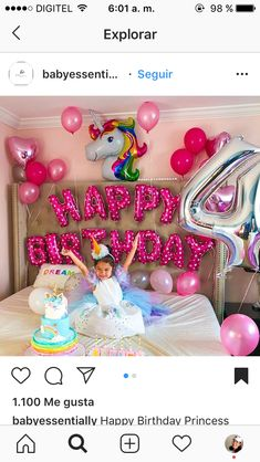 Perfect for smash cake photos 🦄🙌 can't wait till december Unicorn Birthday Parties, Birthday Balloons, Unicorn Party, Birthday Party Decorations, First Birthday Parties, Happy Birthday Princess, Girl Birthday, Birthday Ideas, Jojo Siwa Birthday