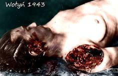 Na zdjęciu Kleszczyńska. Ciało nosi widoczne ślady tortur przez Ukraińców, w tym…