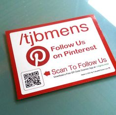 Check out @tjbmens Pinterest Large AnyCling Sticker with QR Code (NFC lso available) from http://followmesticker.com
