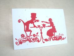 Alice in Wonderland Tea Party card by IndianBirdsong on Etsy, *CC*