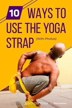 10 Ways to Use the Yoga Strap #yoga #health #fitness Yoga Restaurador, Yoga Ashtanga, Yoga Iyengar, Vinyasa Yoga, Yoga Beginners, Qi Gong, Yoga Gurt, Different Types Of Yoga, Yoga Props