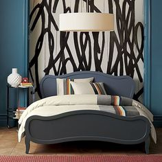 Adding Pattern: Renewing the Look of a Painted Room with One Wallpapered Wall
