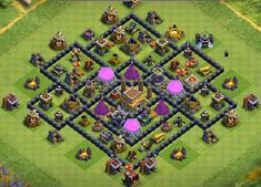 Farming Bases Links 2020 with Bomb Tower. These Bases can Withstand various enemy attacks in multiplayer battles. Trophy Base, Joker Poster, Town Hall, Clash Of Clans, Everything, Farming, War, Rings, Character