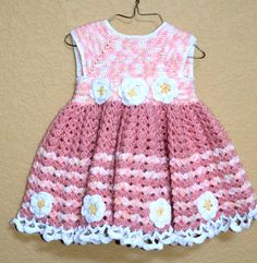 A very beautiful crochet little girl's dress in by EmporiumHouse, $80.00